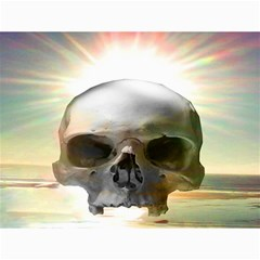 Skull Sunset Canvas 12  X 16   by icarusismartdesigns
