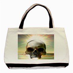 Skull Sunset Basic Tote Bag (two Sides)  by icarusismartdesigns
