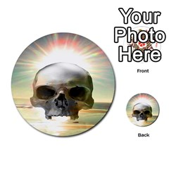 Skull Sunset Multi Purpose Cards (round)  by icarusismartdesigns