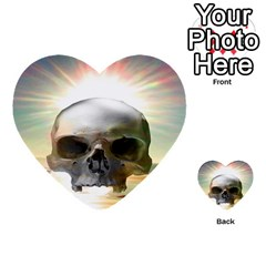 Skull Sunset Multi Purpose Cards (heart)  by icarusismartdesigns