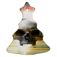 Skull Sunset Ornament (christmas Tree) by icarusismartdesigns