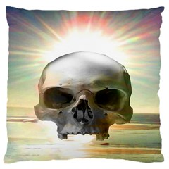 Skull Sunset Large Cushion Cases (one Side)  by icarusismartdesigns