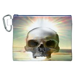 Skull Sunset Canvas Cosmetic Bag (xxl)  by icarusismartdesigns