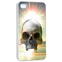 Skull Sunset Apple Iphone 4/4s Seamless Case (white) by icarusismartdesigns