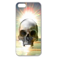 Skull Sunset Apple Seamless Iphone 5 Case (clear) by icarusismartdesigns