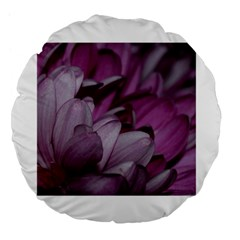 Purple! Large 18  Premium Flano Round Cushions by timelessartoncanvas