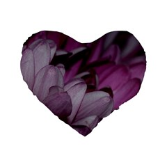 Purple! Standard 16  Premium Flano Heart Shape Cushions by timelessartoncanvas