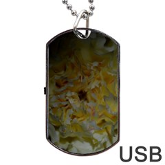 Yellow Flower Dog Tag Usb Flash (two Sides)  by timelessartoncanvas