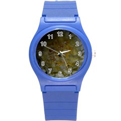Yellow Flower Round Plastic Sport Watch (s) by timelessartoncanvas