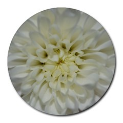White Flowers Round Mousepads by timelessartoncanvas