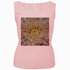 White Flowers Women s Pink Tank Tops by timelessartoncanvas