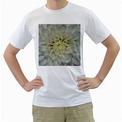 White Flowers Men s T Shirt (white) (two Sided) by timelessartoncanvas