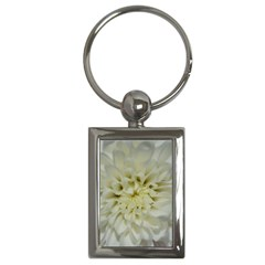 White Flowers Key Chains (rectangle)  by timelessartoncanvas
