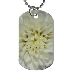 White Flowers Dog Tag (Two Sides)
