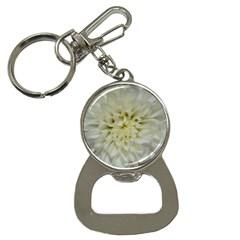 White Flowers Bottle Opener Key Chains by timelessartoncanvas