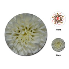 White Flowers Playing Cards (round)  by timelessartoncanvas