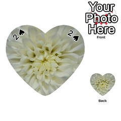 White Flowers Playing Cards 54 (heart)  by timelessartoncanvas