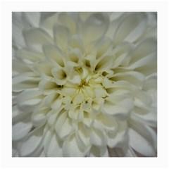 White Flowers Medium Glasses Cloth