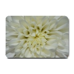 White Flowers Small Doormat  by timelessartoncanvas