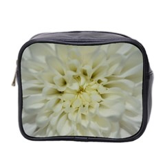 White Flowers Mini Toiletries Bag 2 Side by timelessartoncanvas