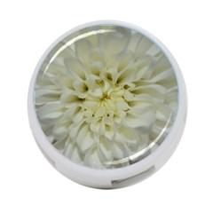 White Flowers 4-Port USB Hub (Two Sides)