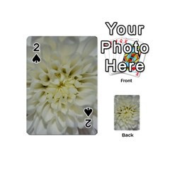 White Flowers Playing Cards 54 (mini)  by timelessartoncanvas