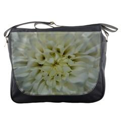 White Flowers Messenger Bags