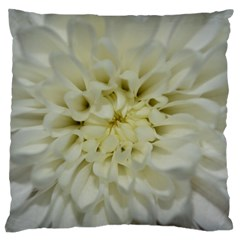 White Flowers Large Cushion Cases (Two Sides)