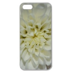 White Flowers Apple Seamless iPhone 5 Case (Clear)