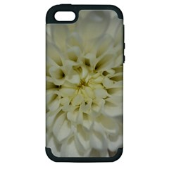 White Flowers Apple Iphone 5 Hardshell Case (pc+silicone) by timelessartoncanvas