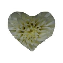 White Flowers Standard 16  Premium Heart Shape Cushions by timelessartoncanvas