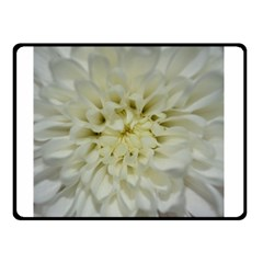 White Flowers Double Sided Fleece Blanket (small)  by timelessartoncanvas