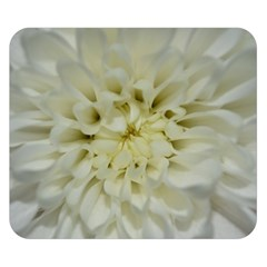 White Flowers Double Sided Flano Blanket (Small)