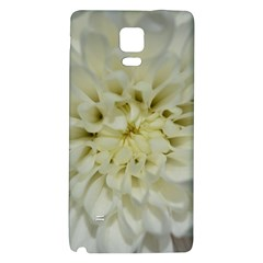 White Flowers Galaxy Note 4 Back Case by timelessartoncanvas