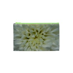 White Flowers Cosmetic Bag (XS)