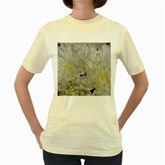 White Flowers 2 Women s Yellow T Shirt by timelessartoncanvas