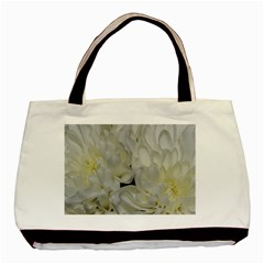 White Flowers 2 Basic Tote Bag  by timelessartoncanvas
