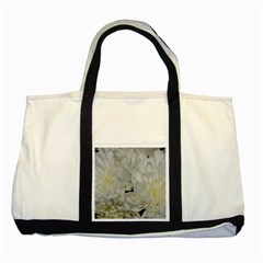 White Flowers 2 Two Tone Tote Bag  by timelessartoncanvas