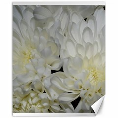 White Flowers 2 Canvas 16  X 20   by timelessartoncanvas