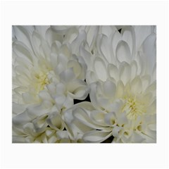 White Flowers 2 Small Glasses Cloth (2 Side) by timelessartoncanvas