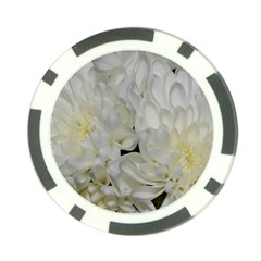 White Flowers 2 Poker Chip Card Guards by timelessartoncanvas
