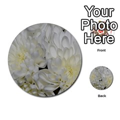 White Flowers 2 Multi Purpose Cards (round)  by timelessartoncanvas