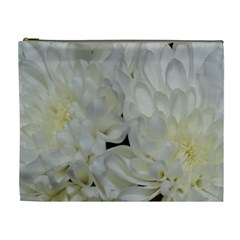 White Flowers 2 Cosmetic Bag (xl) by timelessartoncanvas