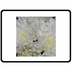 White Flowers 2 Fleece Blanket (large)  by timelessartoncanvas