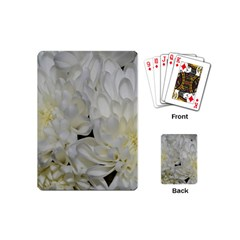 White Flowers 2 Playing Cards (mini)  by timelessartoncanvas