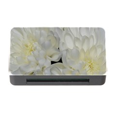 White Flowers 2 Memory Card Reader With Cf by timelessartoncanvas