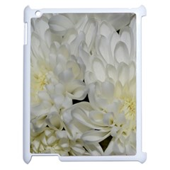 White Flowers 2 Apple Ipad 2 Case (white) by timelessartoncanvas