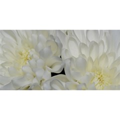 White Flowers 2 You Are Invited 3d Greeting Card (8x4)  by timelessartoncanvas
