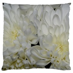 White Flowers 2 Large Cushion Cases (Two Sides)  by timelessartoncanvas