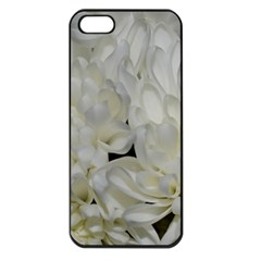 White Flowers 2 Apple Iphone 5 Seamless Case (black) by timelessartoncanvas